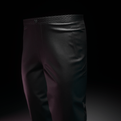 Trousers Silk Black