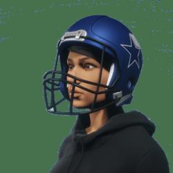 american football blue helmet for female