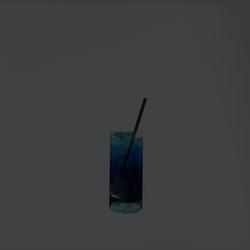 Deep Ocean Blue Cocktail