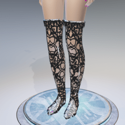 Silver High Boots - Female