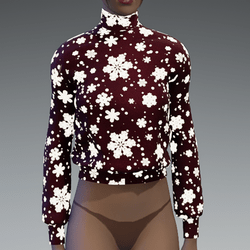 Emissive snowflakes red sweater/jumper