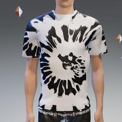 Black & White Summer Hip Tie-Dye T-Shirt - Male