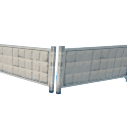 Concrete Fence- Steel - Deco