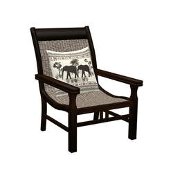 Chair with pillow - colonial style