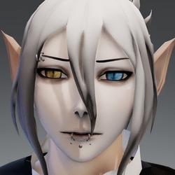 XRezo head piercing y/b eyes