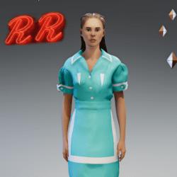 RR Diner Waitress Dress