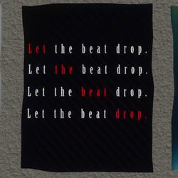 let the beat drop wall poster