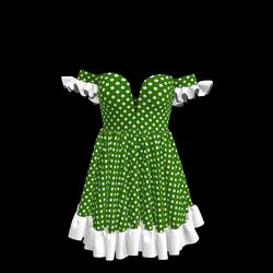 Baby Doll Vintage Polka Dot Dress 08
