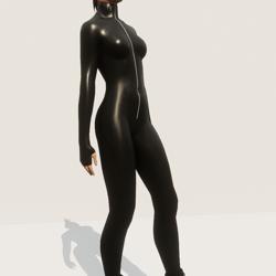 TKA BLACK LEATHER JUMPSUIT