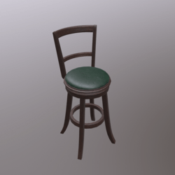 Barstool #2 (Wooden/Leather/Highback)