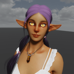 Solar Elf Avatar (Emissive Eyes)
