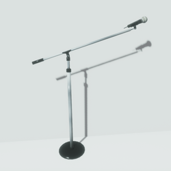 Stage Microphone & Stand Extended