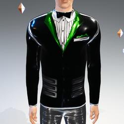 Black-Green Peak Simulated Modern-Tux - Male