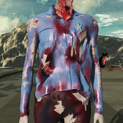 Cop Shirt for Zombie Avatar