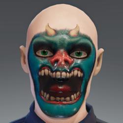 Demon Face Paint
