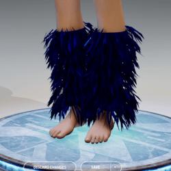 GoGo Dancer Furry Legwarmers NAVY BLUE