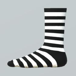 Striped Girl Socks white-black