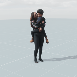 Fabienne and Percy 3D scan static model
