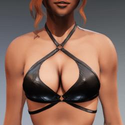 Carol Bikini Top for Kismet Body (3A or 3B) by Apocalypse Bunnies (shiny leather)
