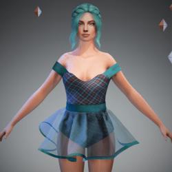 Tully Blue Tart Ballerina