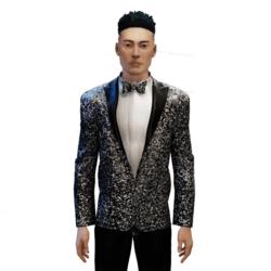 Glitter Tuxedo silver