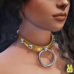 collar - gold glitter