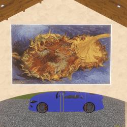 Art - Two Cut Sunflowers 1887 Van Gogh