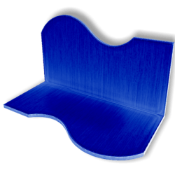 Display For Shop ( H5-W10-D5 ) - Blue - Collision Mesh