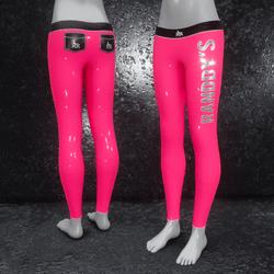 Leggings Latex metallic pink