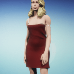 Slim Red Dress