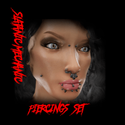 Piercings set (slatanic mechanic)