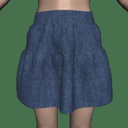 Tiered Denim Skirt - Short