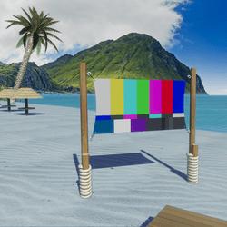 Beach Media Screen Surface