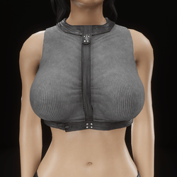 Harness top (grey and black leather)