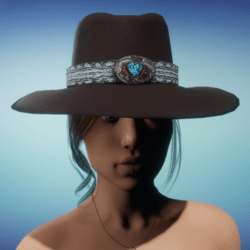 COWGIRL HAT - Brown