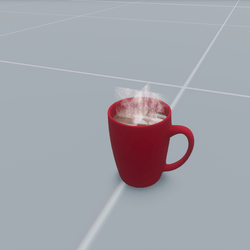 Mug of Hot Cocoa with marshmallows & animated steam