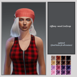 tiffany wool cap -red-updated