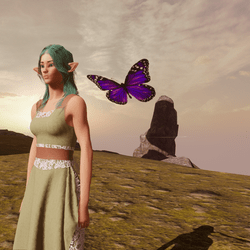 Animated Butterfly pet purple