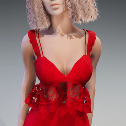 Lace Summer Top in Red