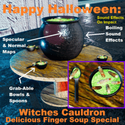 Witches Cauldron: Delicious Finger Soup Special (v.1)