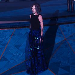 sheer digi print skirt