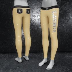 Leggings Latex metallic brown
