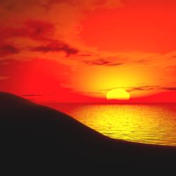 Lepers Art - Soft Dark Wasteland Sunset Sky