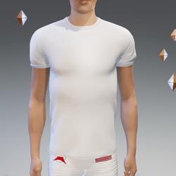 White Athletic Shirt - Male