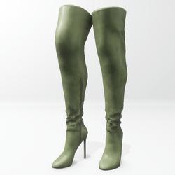 """""""Alina - Daisy"""" and Nicci avatar boots - green"""