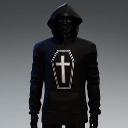 Unisex Coffin Cross Hoodie [Silver]