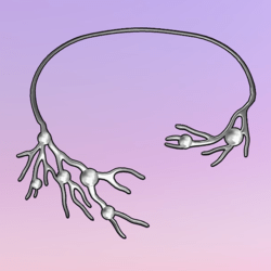 Bare Tree Choker wPearls Silver-White