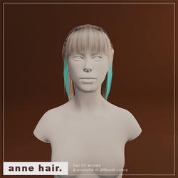 Anne Hair (F/Glowing Cyan Strand)