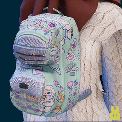 small milk joy backpack - blue