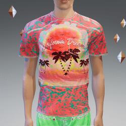 Spot-Red California Dream Pocket T-Shirt - Male